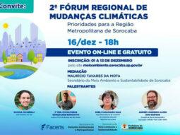 2º Fórum Regional de Mudanças Climáticas de Sorocaba