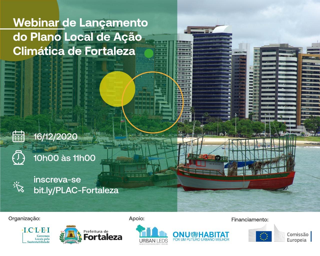 Webinar de Apresentação do Plano Local de Ação Climática (PLAC) de Fortaleza