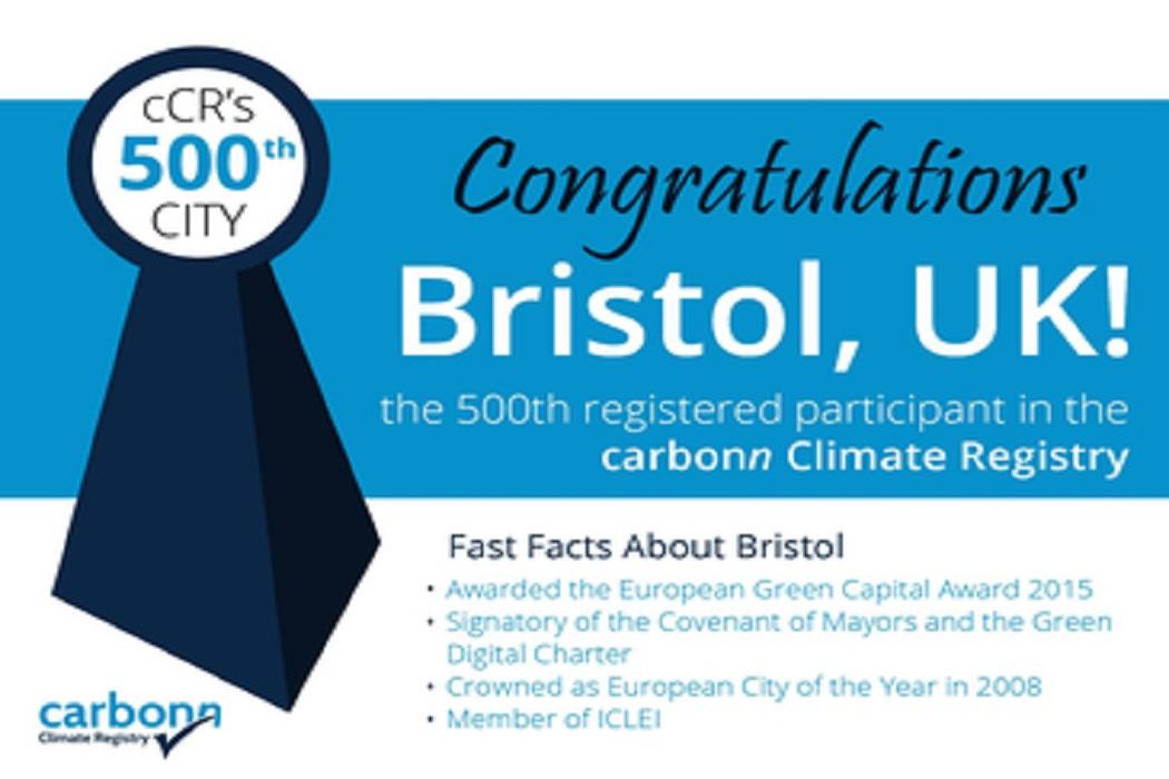 Bristol se torna a 500ª Cidade a reportar no Registro Climático Carbonn