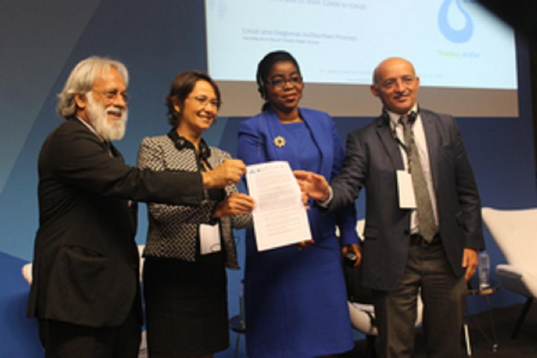 Financiamento para infraestrutura e descentralização da gestão água são demandas dos governos locais em novo chamado à ação
