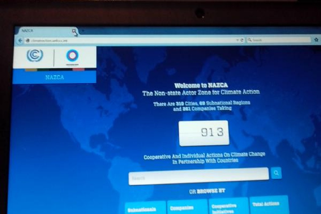 Portal de Ação Climática para Capturar e Catalisar Ações em Apoio ao Acordo de 2015