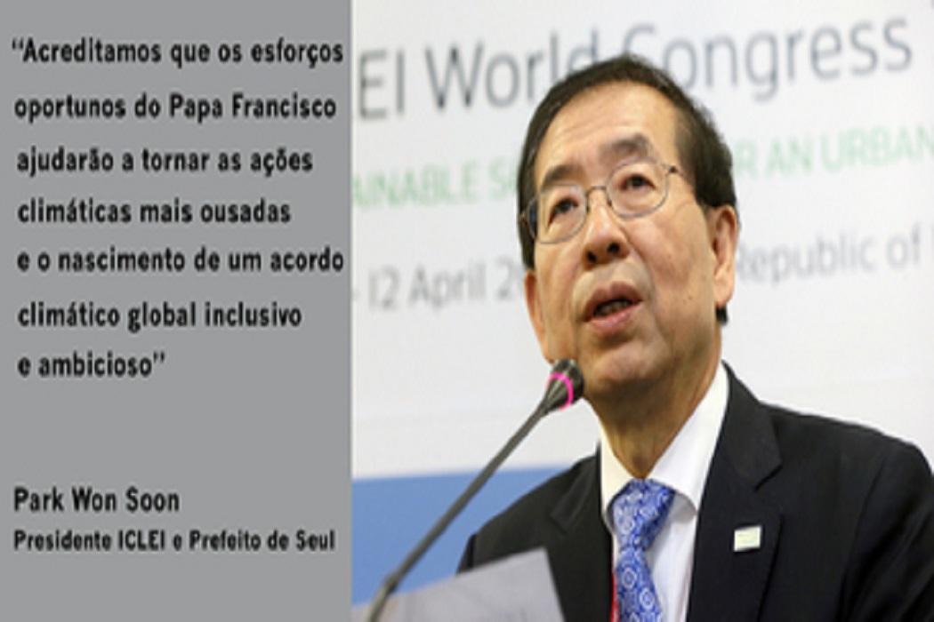 Líderes e Membros do ICLEI fortalecem os esforços do Papa Francisco sobre o clima, escravidão moderna e sustentabilidade